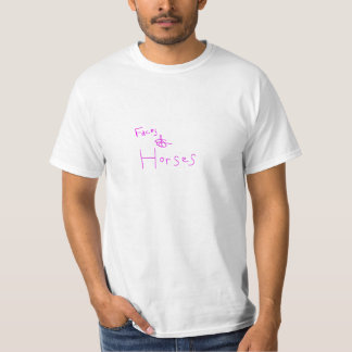 faces & horses t-shirts