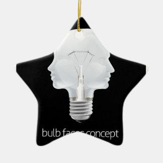 Faces Light Bulb Concept Christmas Ornament