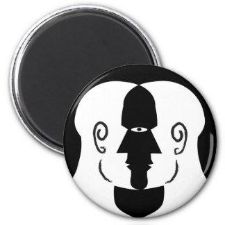 faces 6 cm round magnet