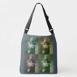 faces of 1909 crazy French opera singer Crossbody Bag