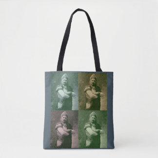 faces of 1909 crazy French opera singer Tote Bag