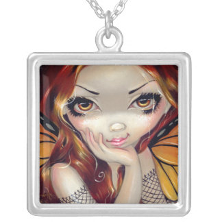 Faces of Faery 112 NECKLACE redhead fairy
