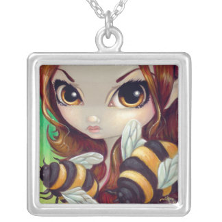 Faces of Faery 67 NECKLACE bumble bee fairy