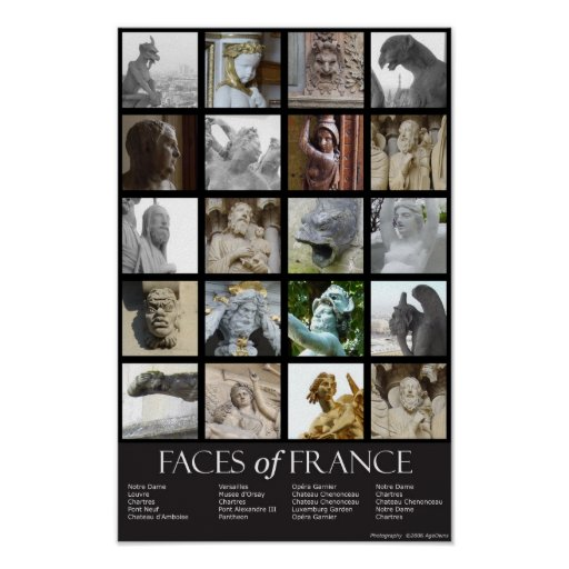 Faces of France Poster