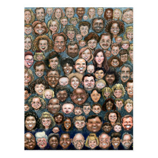 Faces of Humanity Postcard