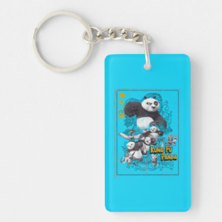 Faces of Po Key Ring