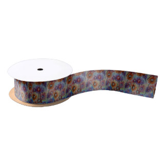Faces of the flowers satin ribbon