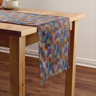 Faces of the flowers short table runner