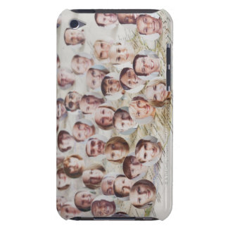 Faces over a map of America iPod Touch Case-Mate Case