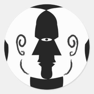 faces round sticker