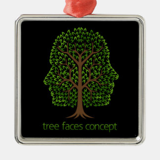 Faces Tree Concept Christmas Ornament
