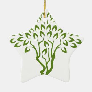 Faces Tree Optical Illusion Concept Ceramic Star Decoration
