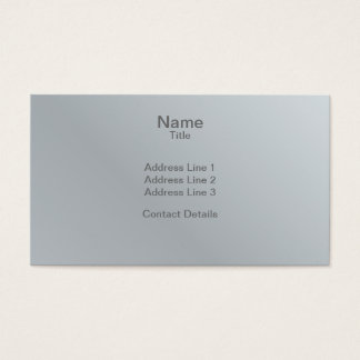 Faceted Gem Aluminium Grey Business Card