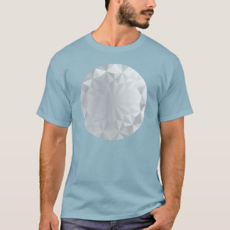 Faceted Gem Aluminium Grey T-Shirt