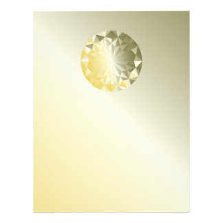 Faceted Gem Yellow Beryl 21.5 Cm X 28 Cm Flyer