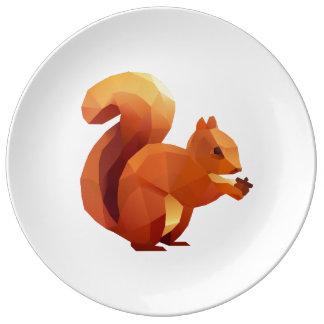 Facetnation Autumn Squirrel Plate