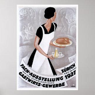 Fach Ausstellung Vintage Food Ad Art Posters