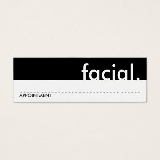 facial. (appointment card) mini business card