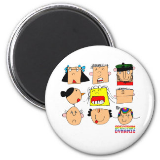 Facial Expressions 6 Cm Round Magnet