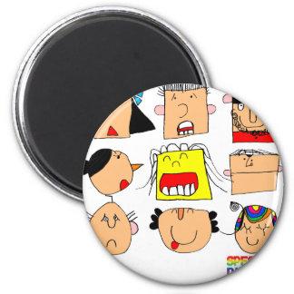 Facial Expressions Fridge Magnet