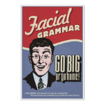 Facial Grammar. An ASL classroom poster. Poster