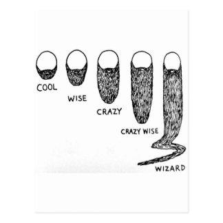 facial hair postcard