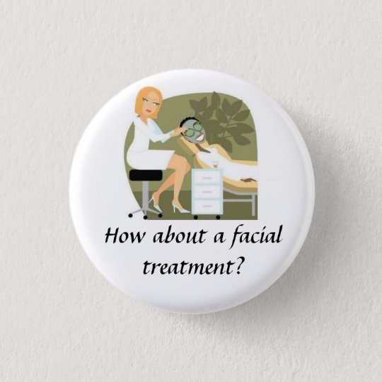 Facial Treatment 3 Cm Round Badge