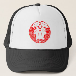 Facing spiny lobsters trucker hat