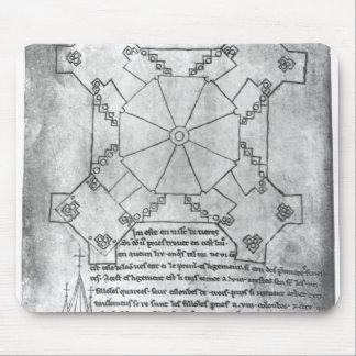 Facsimile copy of a plan of the tower mouse mat