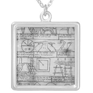 Facsimile copy of Geometrical figures Silver Plated Necklace