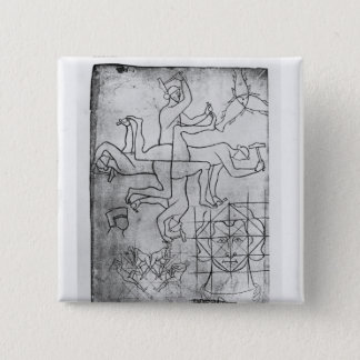 Facsimile copy of Ms Fr Studies of men 15 Cm Square Badge
