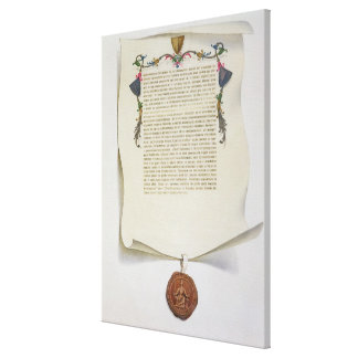 Facsimile edition of the Magna Carta, first publis Canvas Print