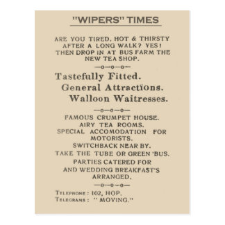 Facsimile Extract from the Wipers Times 1916 Postcard