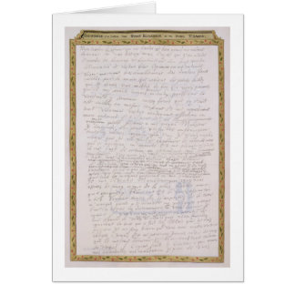 Facsimile of a letter from Elizabeth I to Francois Card