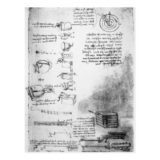 Facsimile of a page from the Codex Arundel Postcard
