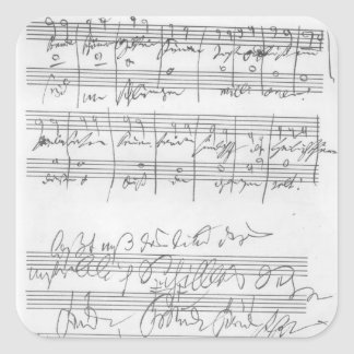 Facsimile of a page of music square sticker