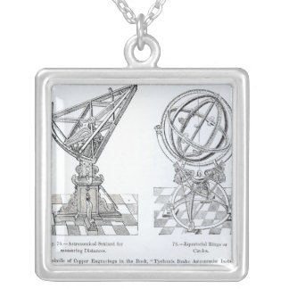 Facsimile of Copper Engravings Silver Plated Necklace