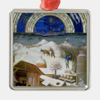 Facsimile of February Christmas Ornament