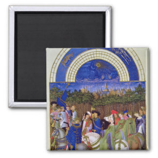 Facsimile of May: Courtly Figures on Horseback Magnet