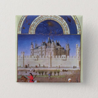 Facsimile of October: sowing the winter grain 15 Cm Square Badge