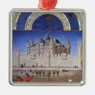 Facsimile of October: sowing the winter grain Christmas Ornament