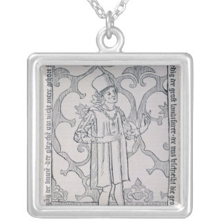 Facsimile of the frontispiece silver plated necklace