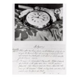 Facsimile of the Pocket Chronometer Postcard