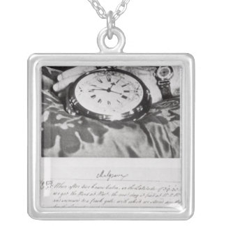 Facsimile of the Pocket Chronometer Silver Plated Necklace