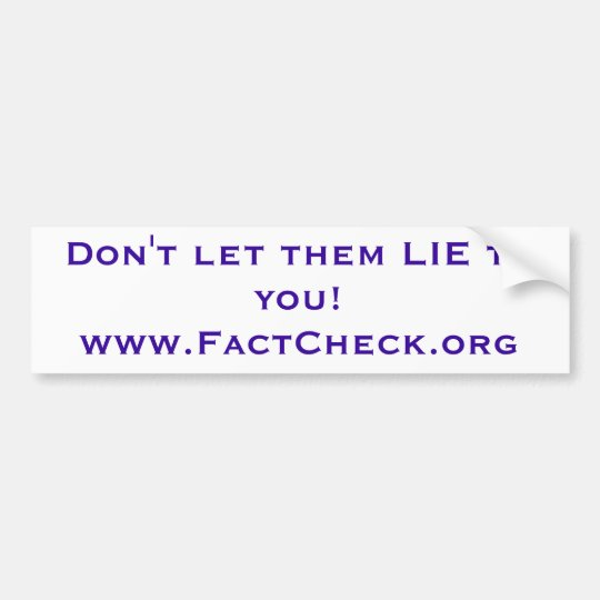 Fact Check bumper sticker