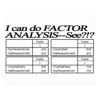 Factor Analysis Tables / Statistician Postcard