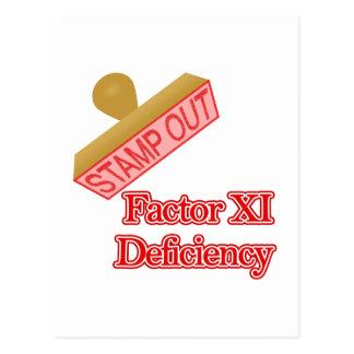 Factor XI Deficiency Postcard