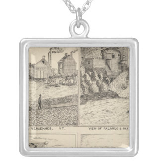 Factory and tannery in Vergennes Silver Plated Necklace