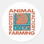 Factory Farming Round Sticker