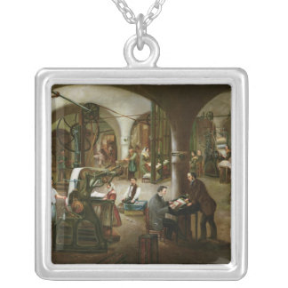 Factory in the Rue d'Aubagne, 1861 Silver Plated Necklace